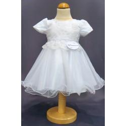 Robe baptême blanche bébé fille CH 0001MC