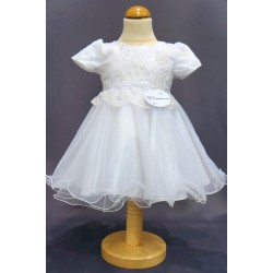 Robe de baptême blanche bébé fille CH 0001MC