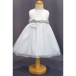 Robe baptême blanche bébé fille PO 0005SM