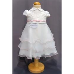 Robe baptême blanche bébé fille PO 1013MC