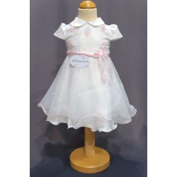 Robe baptême blanche bébé fille PO 1012MC