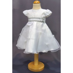 Robe cérémonie baptême blanche bébé fille PO 1003MC