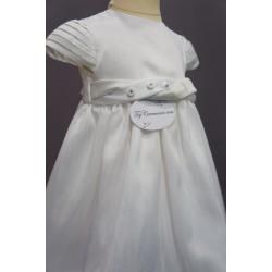 Robe baptême blanche bébé fille PO 1010MC