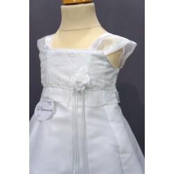 Robe baptême blanche bébé fille CR 002SM