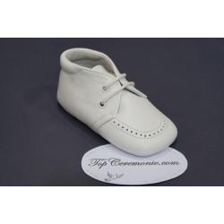 Babies cuir baptême bébé garçon blanc ou ivoire