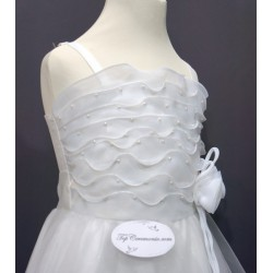 Robe blanche mousseline  REF CHJ 0011SM