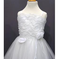 Robe cérémonie fille blanche mousseline