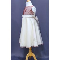 Robe ivoire cérémonie fille REF POJ 0009SM