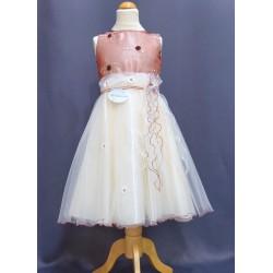 Robe ivoire cérémonie fille REF POJ 0010SM