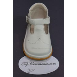 Chaussures cérémonie baptême cuir blanc du 17 au 21