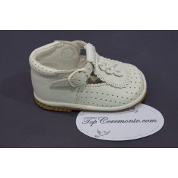 Chaussures cérémonie fille cuir blanc