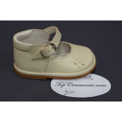 Chaussures cérémonie fille cuir beige