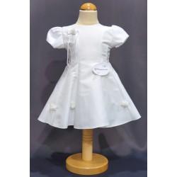 Robe baptême blanche bébé fille CR 1002MC