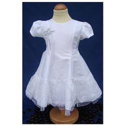 Robe cérémonie baptême blanche bébé fille CR 1006MC