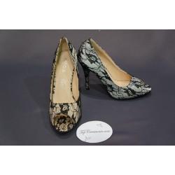 Chaussures cérémonie femme dentelle noir