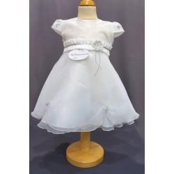 Robe cérémonie baptême blanche bébé fille PO 1024MC