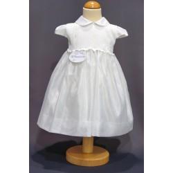 Robe baptême blanche bébé fille PO 1027MC