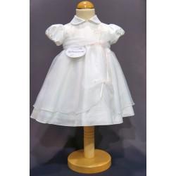 Robe cérémonie baptême blanche bébé fille PO 2010PU