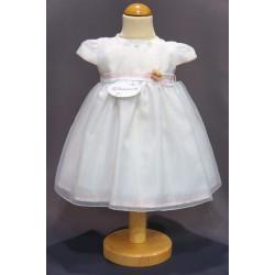 Robe baptême blanche bébé fille PO 2012PU