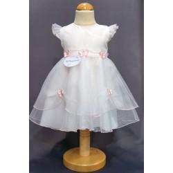 Robe baptême blanche bébé fille PO 2011PU