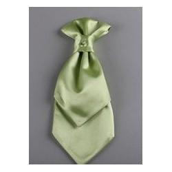 Lavallière et pochette enfant satin vert anis