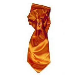 Lavallière et pochette enfant satin orange