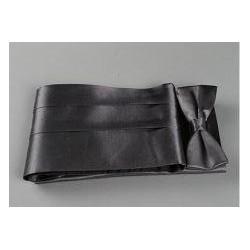 Coffret ceinture de smoking et nœud papillon satin gris