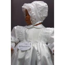 Robe longue de baptême traditionnelle blanche bébé SYLVIA