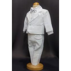 Costume baptême bébé garçon blanc 5 pièces TK