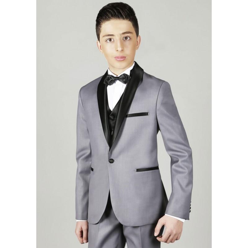 costume gar on gris les petits mecs jean pour mariage communion. Black Bedroom Furniture Sets. Home Design Ideas