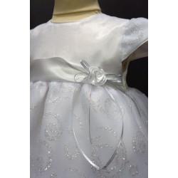 Robe cérémonie baptême blanche bébé fille PO 1036MC