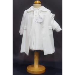 Robe cérémonie baptême blanche bébé fille MARYSE (ensemble avec manteau)