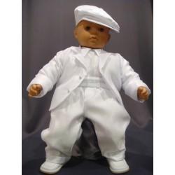 Costume de baptême garçon blanc 3 pièces NICK