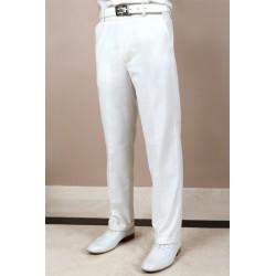 Pantalon blanc ou ivoire cérémonie garçon