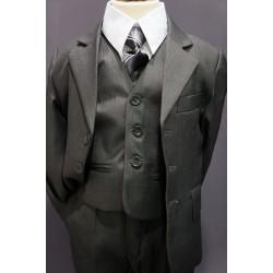Costume garçon 5 pièces gris