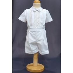 Ensemble cérémonie baptême bébé garçon blanc Ref. PORT/BR494