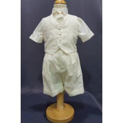 Ensemble cérémonie chemise bermuda ivoire IV003