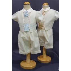 Ensemble cérémonie chemise bermuda ivoire IV006