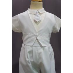 Tenue cérémonie baptême bébé garçon blanc Ref. PORT/BL994