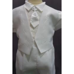 Ensemble cérémonie baptême blanc bébé garçon Ref. PORT/BL989