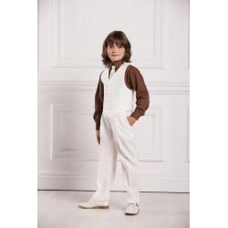 Gilet pantalon lin garçon cortège, baptême 5 couleurs au choix