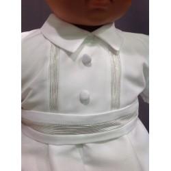 Barboteuse baptême blanche ALBAN