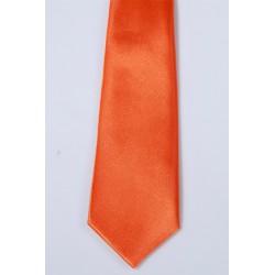 Cravate garçon orange