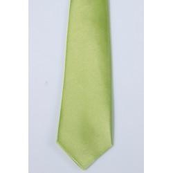 Cravate élastique enfant satin vert anis