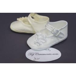 Chaussures babies baptême blanc ou ivoire