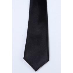 Cravate longue et pochette enfant satin marine