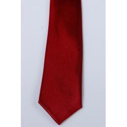 Cravate longue et pochette enfant satin bordeaux