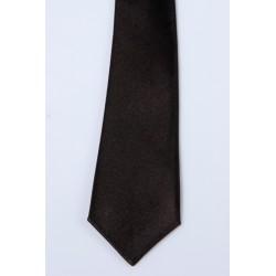 Cravate longue et pochette enfant satin noir