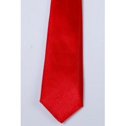 Cravate longue et pochette enfant satin rouge