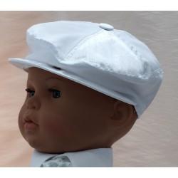 Béret bébé baptême blanc ou ivoire